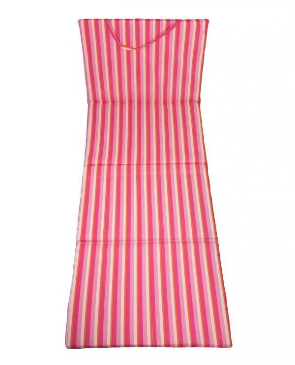 Růžové plážové skládací lehátko - délka 165 cm, šířka 50 cm a výška 1,5 cm