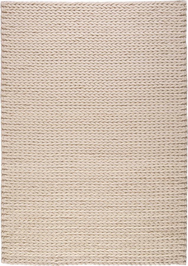 Béžový vlněný kusový koberec Linea