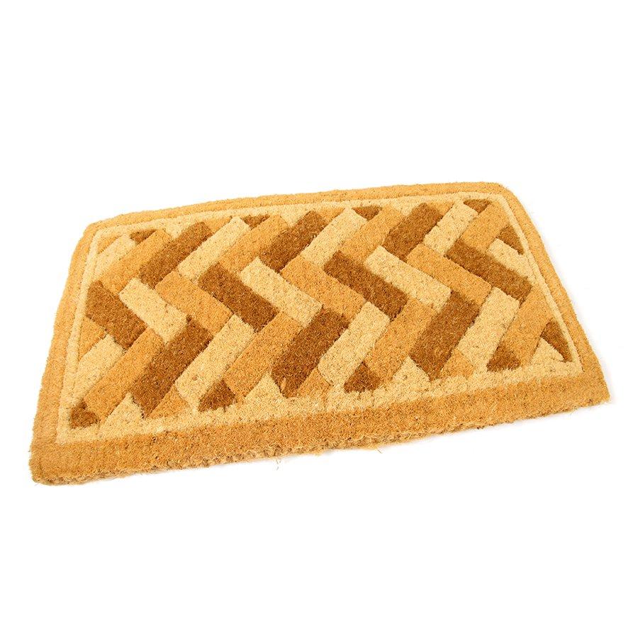 Kokosová čistící venkovní vstupní rohož Bricks - Deco, FLOMAT - délka 75 cm, šířka 45 cm