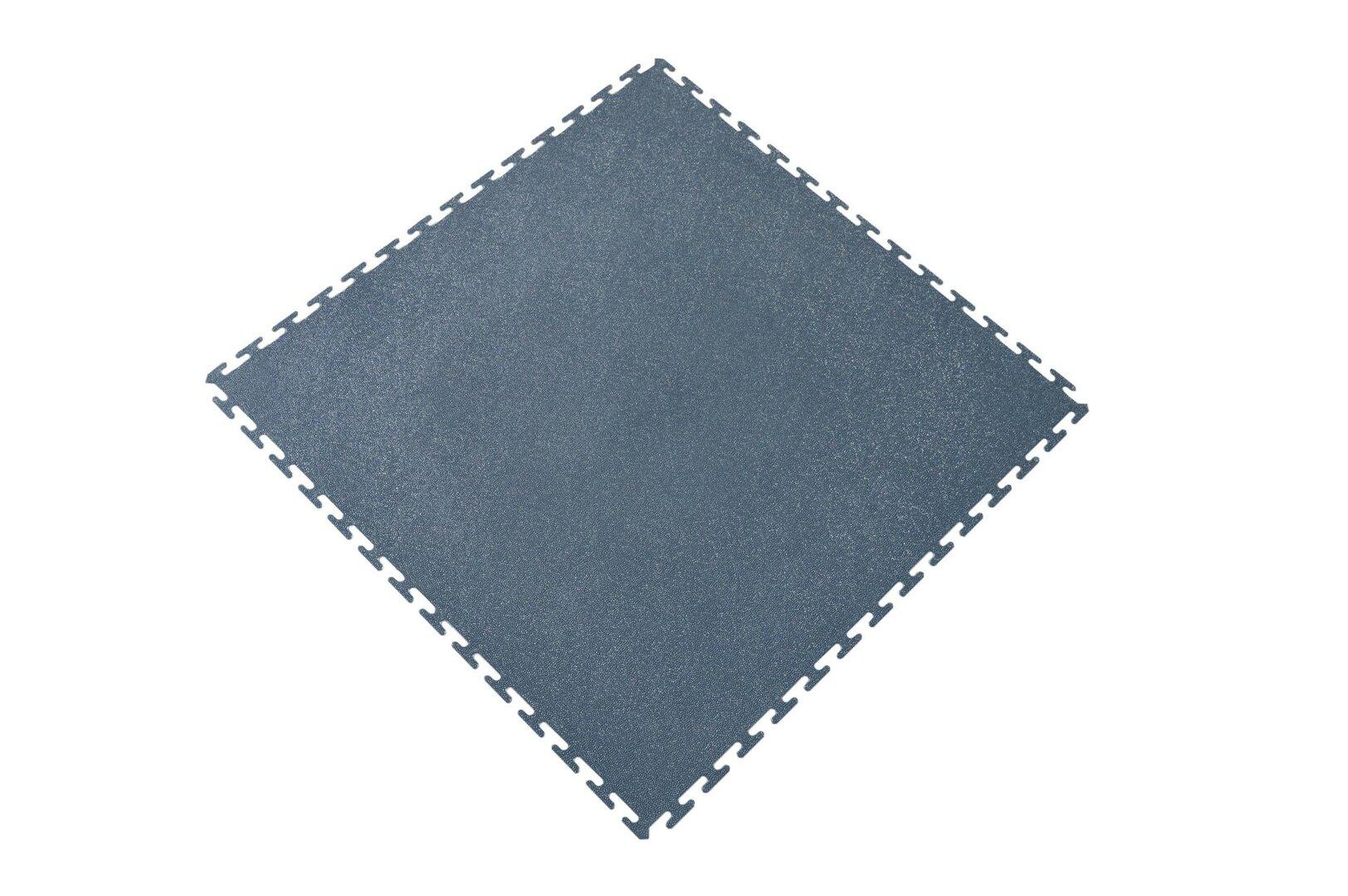 Šedá plastová zátěžová puzzle protiskluzová dlaždice Tenax - 60 x 60 x 0,8 cm