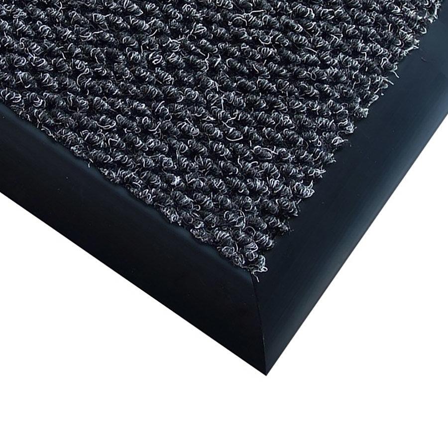 Antracitová textilní vstupní vnitřní čistící zátěžová rohož Perla - délka 120 cm, šířka 300 cm a výška 1,2 cm