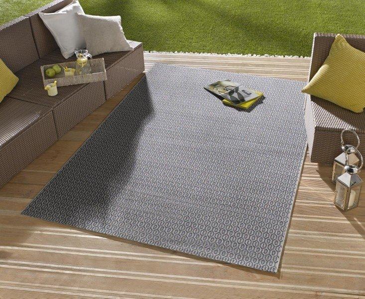 Šedý kusový koberec Meadow - délka 150 cm a šířka 80 cm