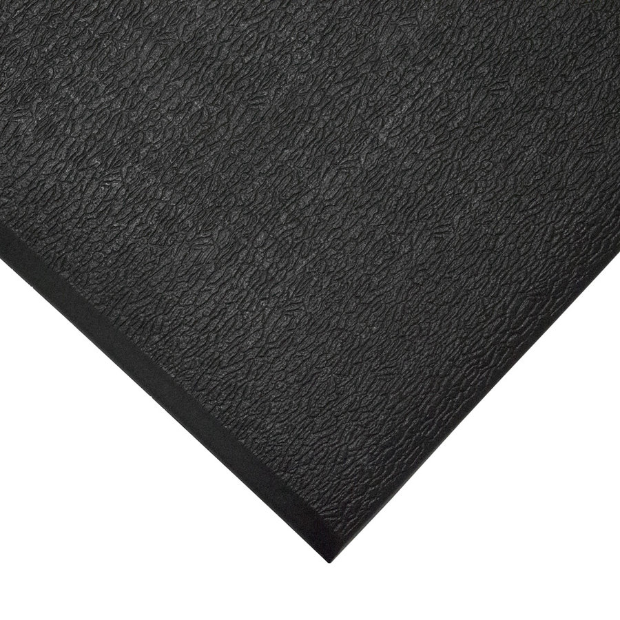 Černá gumová protiskluzová protiúnavová průmyslová rohož - výška 0,9 cm
