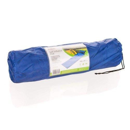 Modrá samonafukovací karimatka s podhlavníkem - délka 183 cm, šířka 51 cm a výška 2,5 cm