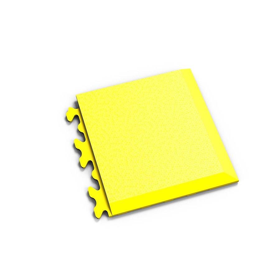 "Žlutý vinylový plastový rohový nájezd ""typ D"" Invisible 2039 (hadí kůže), Fortelock - délka 14,5 cm, šířka 14,5 cm a výška 0,67 cm"