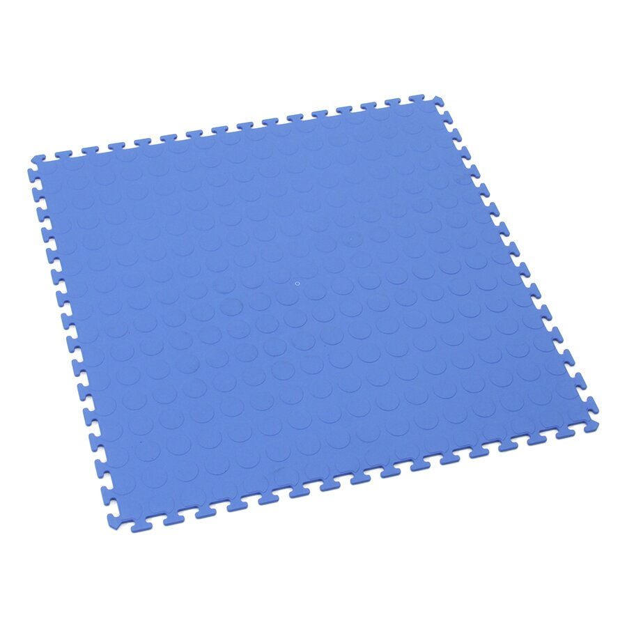 Modrá plastová zátěžová puzzle dlaždice Tenax - 50 x 50 x 0,5 cm