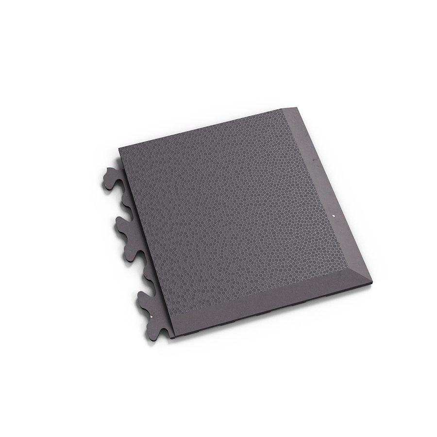 "Šedý plastový vinylový rohový nájezd ""typ D"" Invisible Eco 2039 (hadí kůže), Fortelock - délka 14,5 cm, šířka 14,5 cm a výška 0,67 cm"