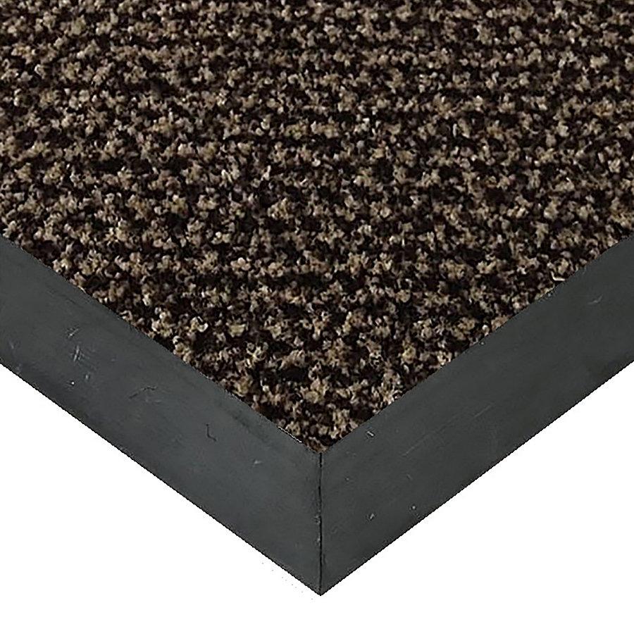Hnědá textilní vstupní vnitřní čistící rohož Alanis, FLOMAT - délka 70 cm, šířka 100 cm a výška 0,75 cm