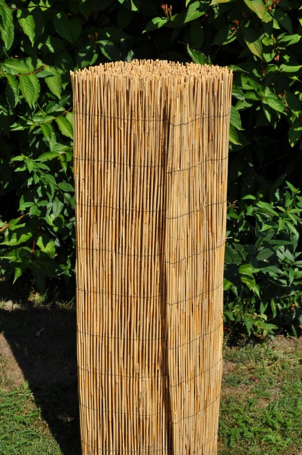 """Rákosová stínící rohož """"úzký rákos"""" - délka 500 cm a výška 100 cm"""