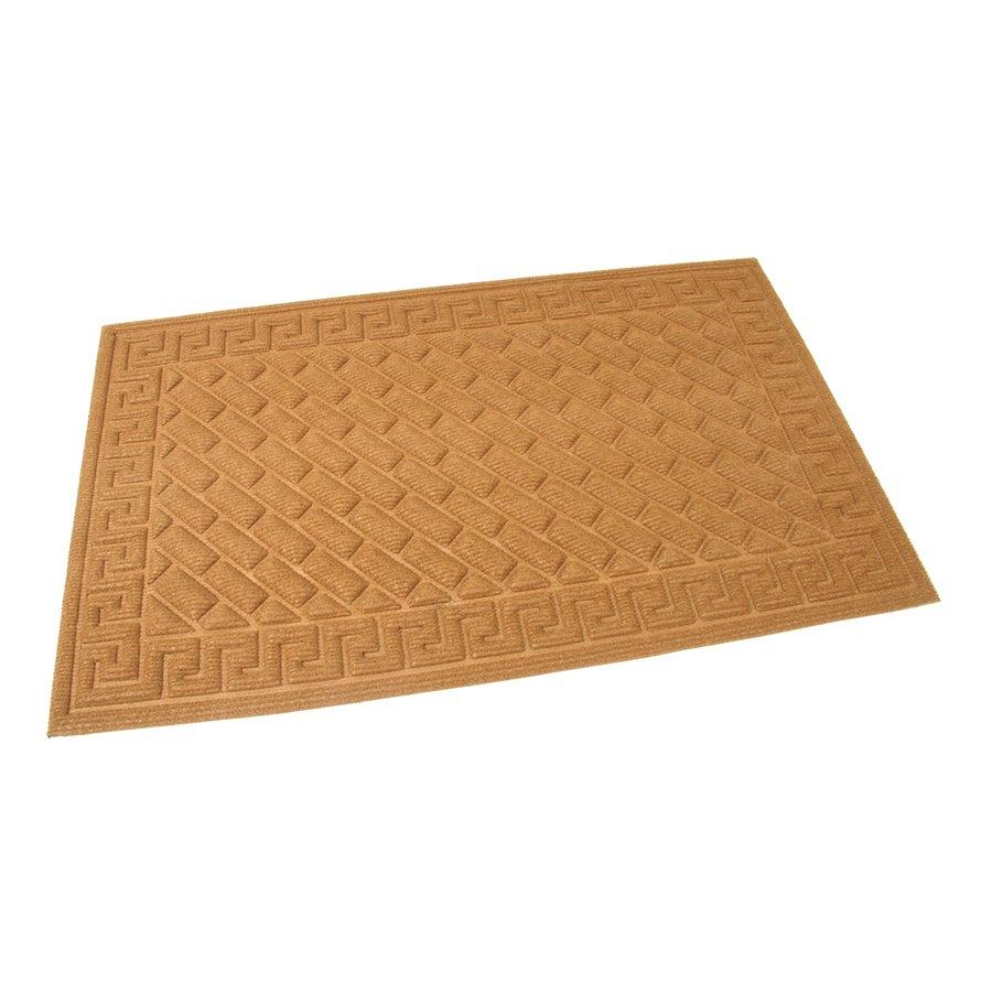 Hnědá textilní čistící venkovní vstupní rohož Bricks - Deco, FLOMAT - délka 75 cm, šířka 45 cm a výška 1 cm