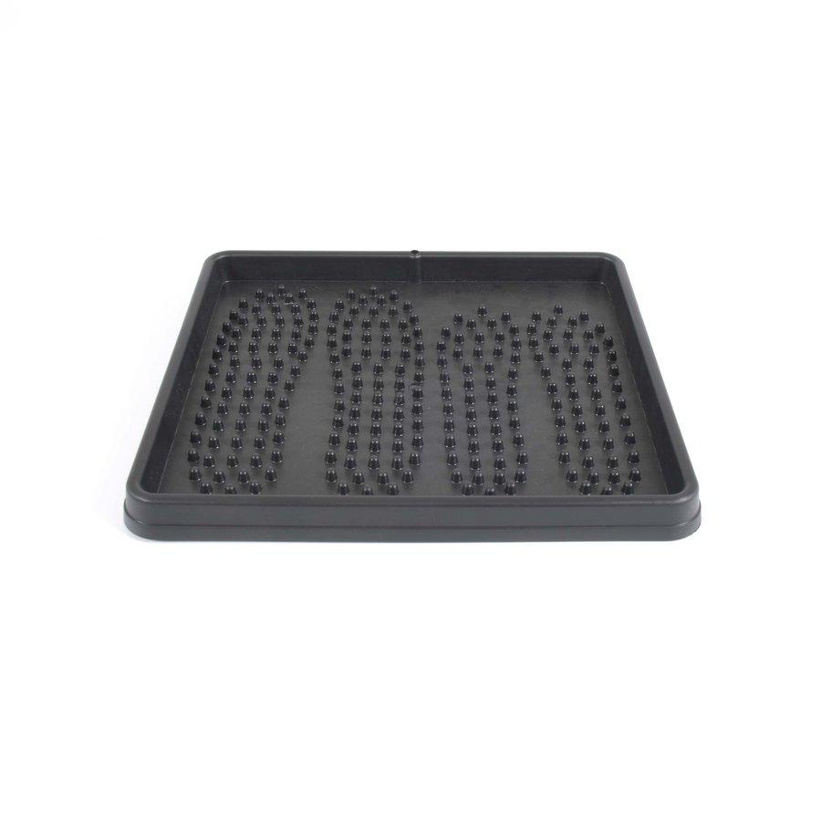 Černý plastový odkapávač na boty - délka 42 cm a šířka 37,5 cm