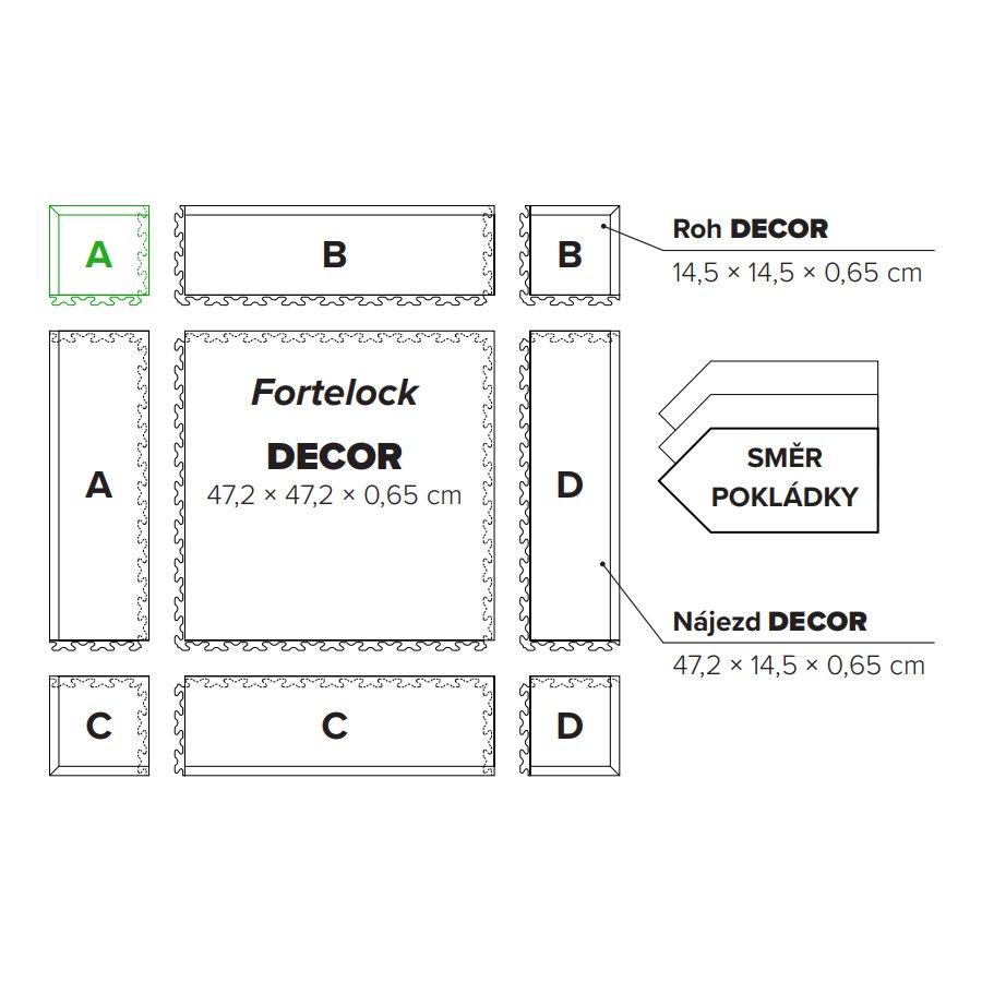 """Hnědý plastový vinylový rohový nájezd """"typ A"""" Home Decor 2116, Fortelock - délka 14,5 cm, šířka 14,5 cm a výška 0,65 cm"""