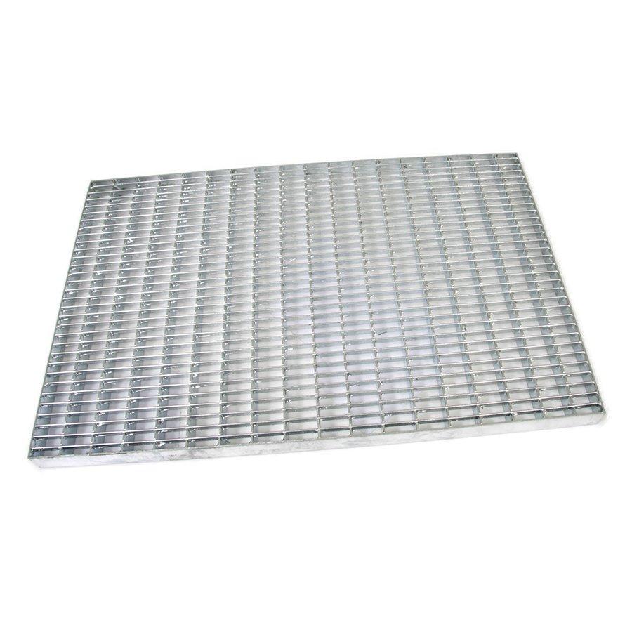 Kovová vstupní venkovní čistící rohož Grid, FLOMAT - délka 40 cm, šířka 60 cm a výška 3 cm