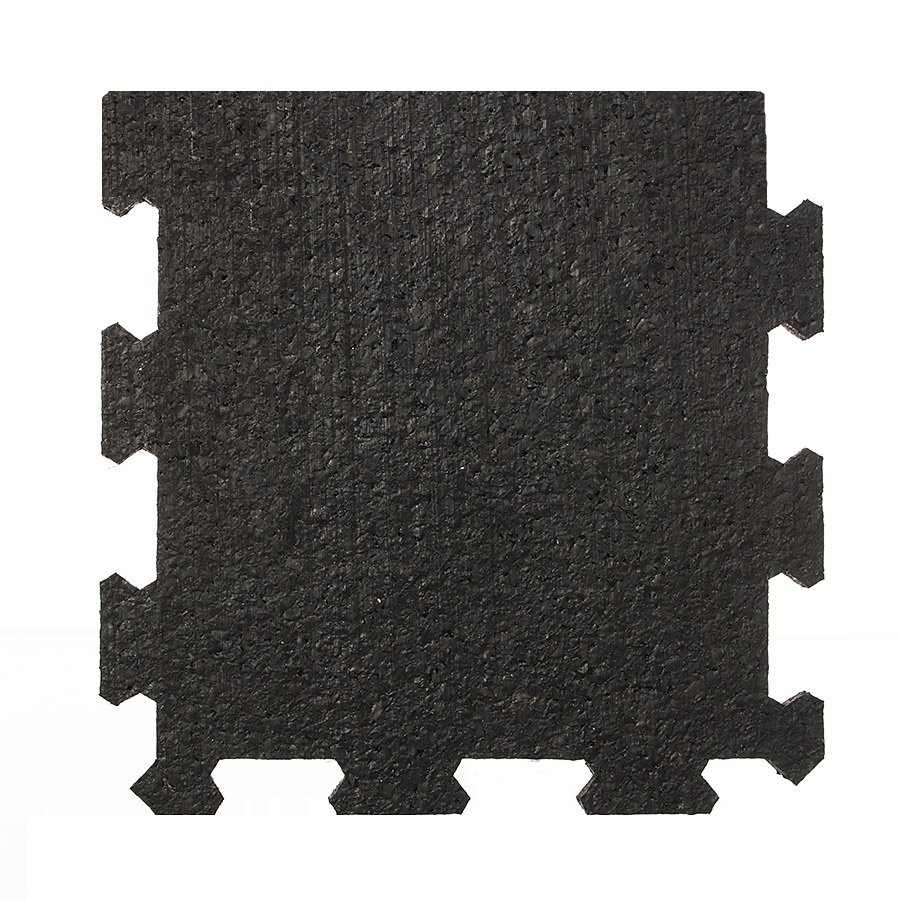 Černá pryžová modulární deska (okraj) SF1100 - délka 95,6 cm, šířka 95,6 cm a výška 2 cm