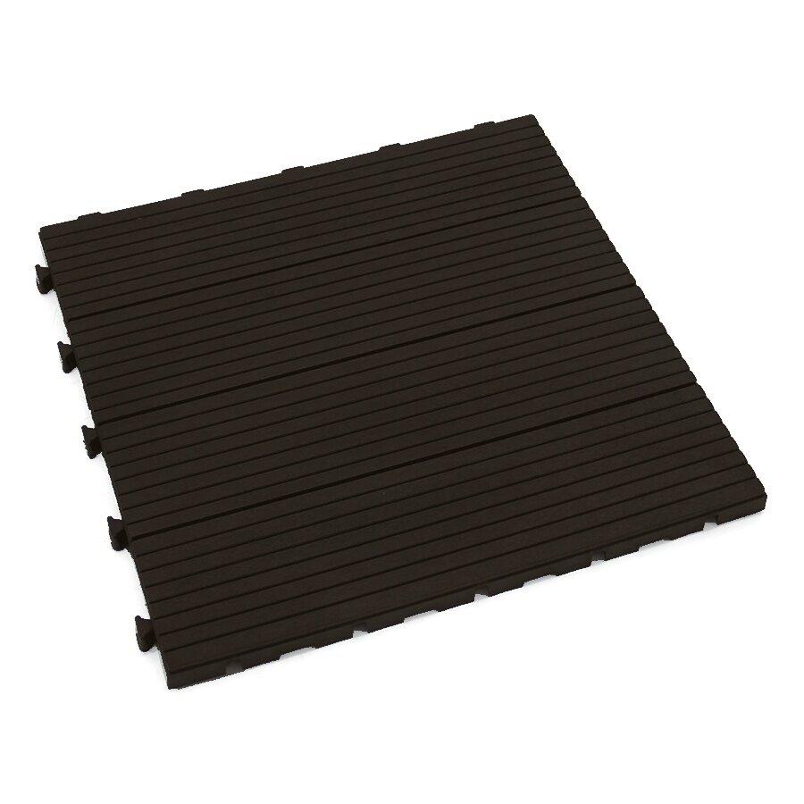 Hnědá gumová terasová dlažba FLOMA Cosmopolitan - 45 x 45 x 2,5 cm