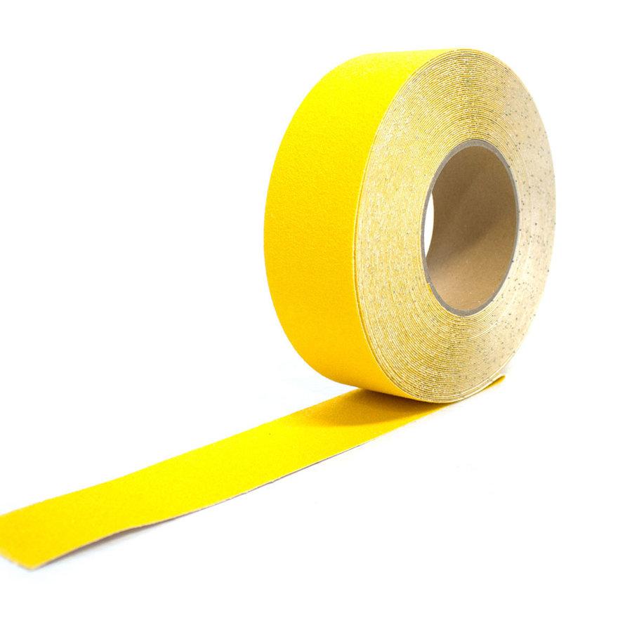 Žlutá korundová protiskluzová páska - délka 18,3 m a šířka 5 cm