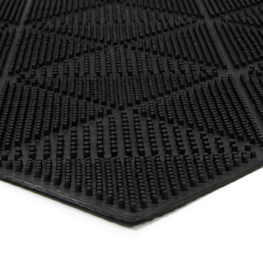 Gumová čistící venkovní vstupní rohož Triangles, FLOMA - délka 40 cm, šířka 60 cm a výška 0,7 cm
