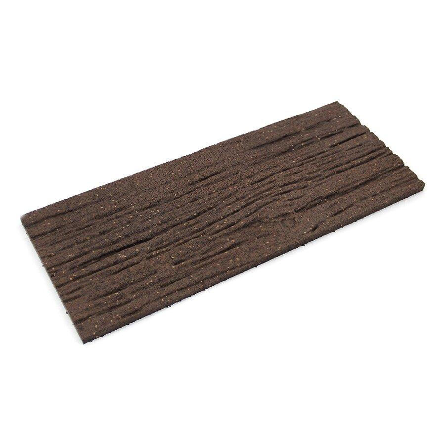 Hnědý gumový zahradní nášlap FLOMA Wood - 26 x 60 x 1,7 cm