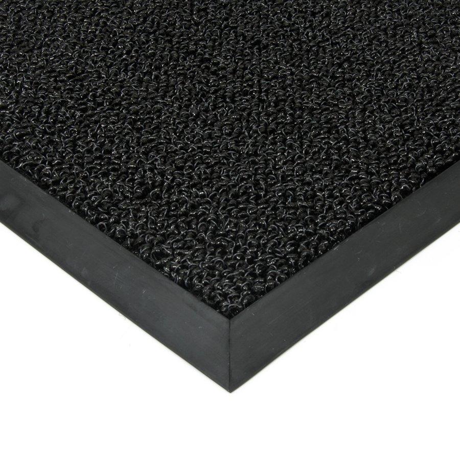 Černá plastová vstupní vnitřní venkovní čistící zátěžová rohož Rita, FLOMAT - délka 80 cm, šířka 120 cm a výška 1 cm