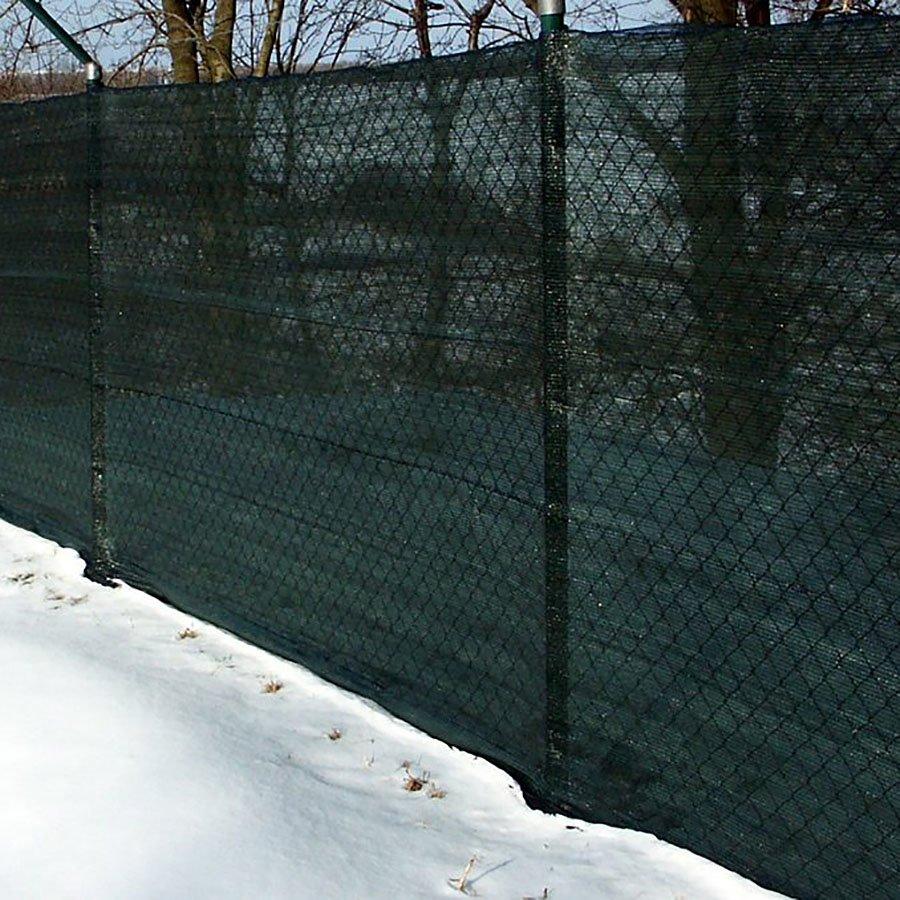 Zelená stínící tkanina na plot Plotex - délka 30 m