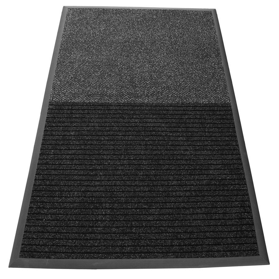 Antracitovo-šedá textilní dvouzonová vstupní vnitřní čistící rohož VIP - délka 200 cm a šířka 100 cm