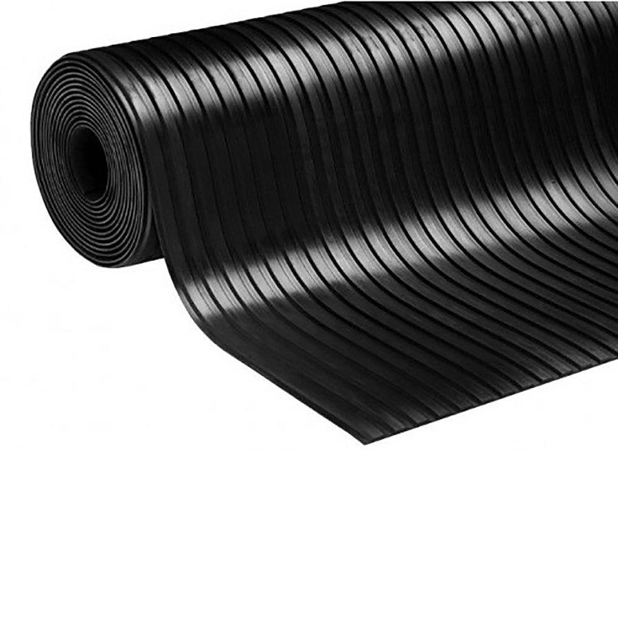 Protiskluzová průmyslová podlahová guma Wide Grooves - šířka 125 cm