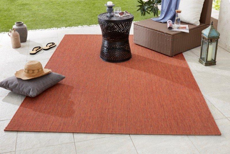 Oranžový kusový koberec Meadow - délka 170 cm a šířka 120 cm