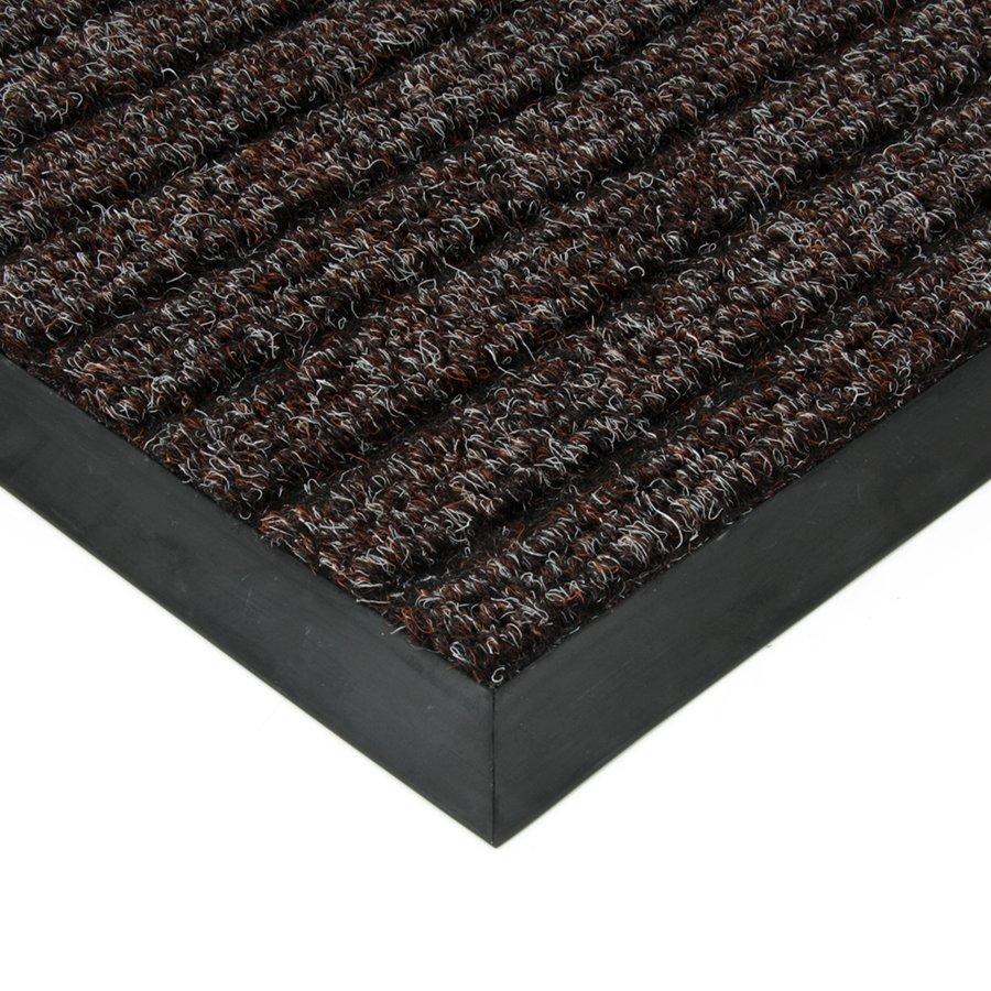 Hnědá textilní vstupní vnitřní čistící zátěžová rohož Shakira, FLOMAT - délka 80 cm, šířka 120 cm a výška 1,6 cm