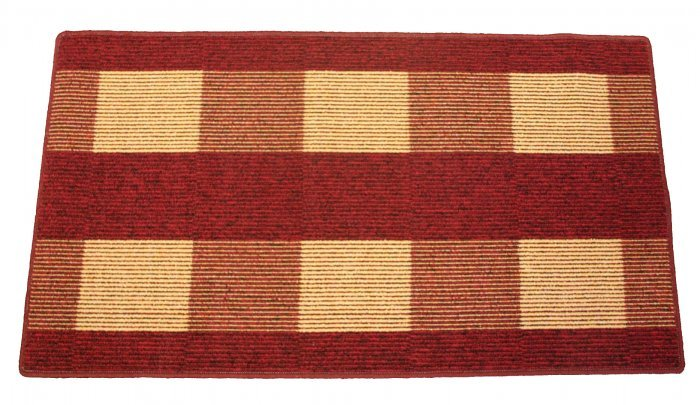 Červený kusový koberec Dijon