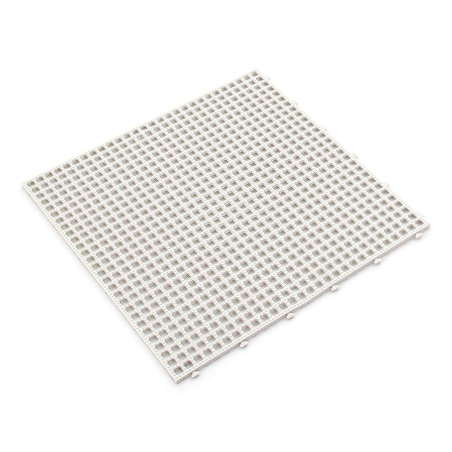 Bílá plastová terasová dlažba Linea Flextile - 39,5 x 39,5 x 0,8 cm