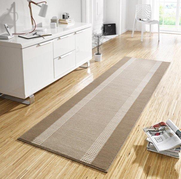 Šedý kusový koberec běhoun Basic - délka 400 cm a šířka 80 cm