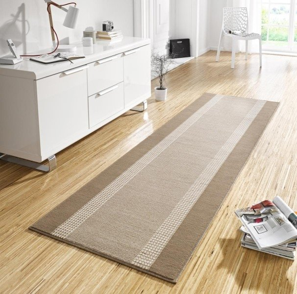 Šedý kusový koberec Basic - délka 170 cm a šířka 120 cm