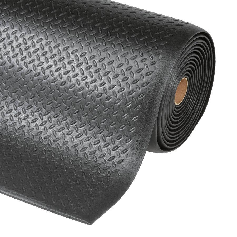 Černá protiúnavová průmyslová rohož - délka 18,3 m, šířka 122 cm a výška 1,27 cm