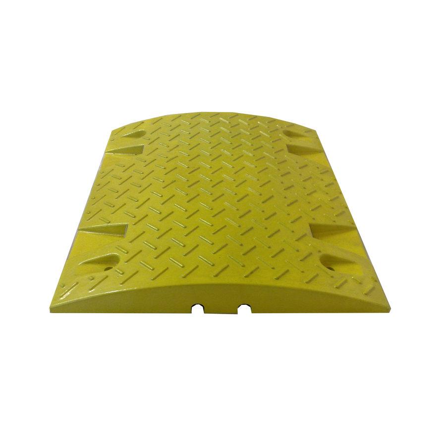 Žlutý plastový zpomalovací průběžný práh - 20 km / hod