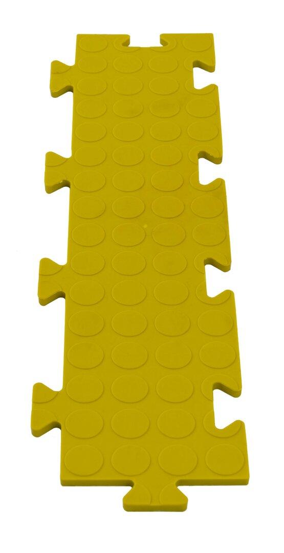Žlutá PVC vinylová zátěžová puzzle protiskluzová spojovací dlaždice Tenax - 50 x 12 x 0,8 cm