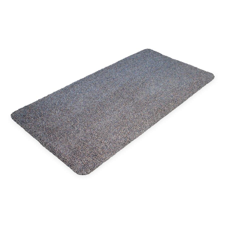 Šedá bavlněná čistící vnitřní vstupní rohož - délka 150 cm, šířka 75 cm a výška 0,4 cm