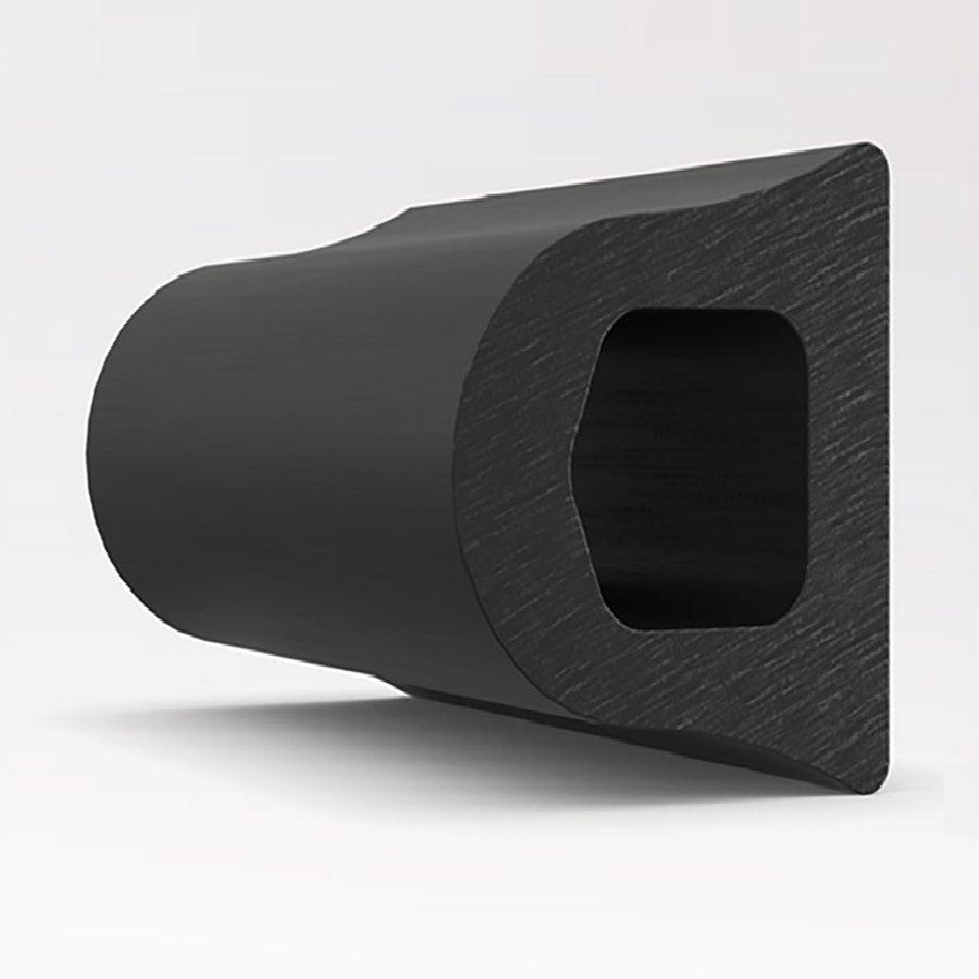 Pryžový nárazový ochranný pás (svodidlo) FLOXO - délka 300 cm, výška 10 cm a tloušťka 9 cm