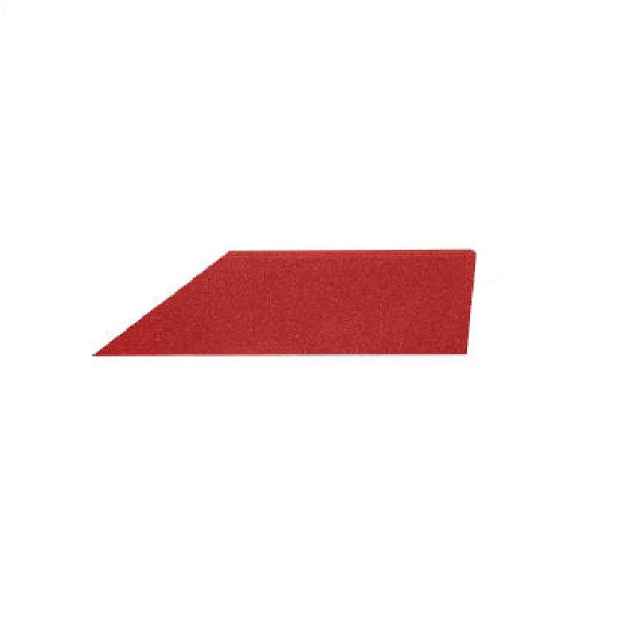 Červený pravý nájezd (roh) pro gumové dlaždice - délka 75 cm, šířka 30 cm a výška 2,5 cm