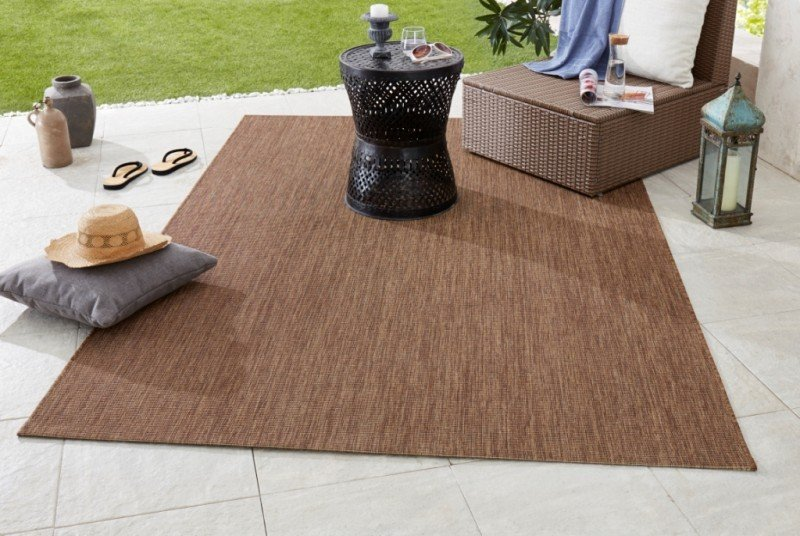 Hnědý kusový koberec Meadow - délka 170 cm a šířka 120 cm