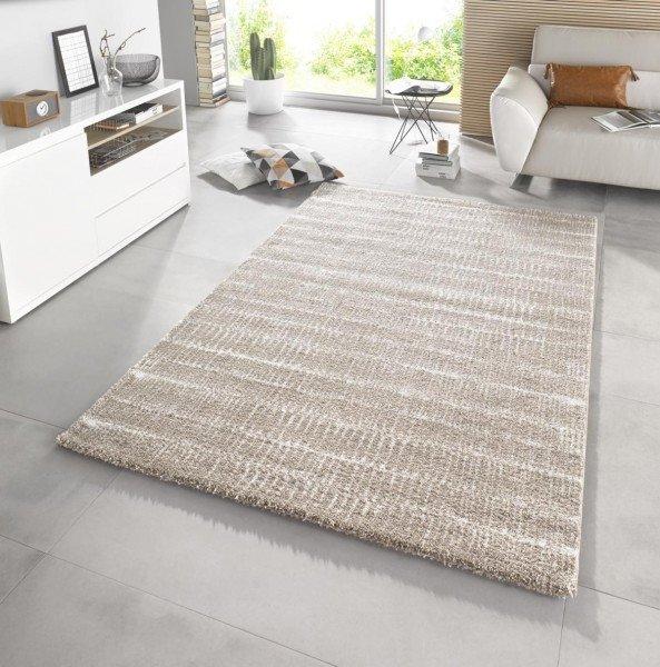 Béžový kusový moderní koberec Stella - délka 150 cm a šířka 80 cm