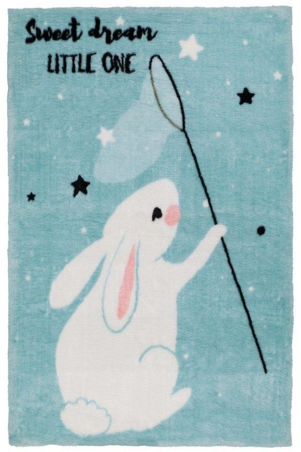 Modrý dětský kusový koberec Lollipop