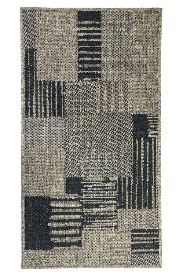 Šedý kusový koberec Sisalo