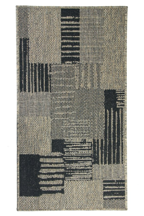 Šedý kusový koberec Sisalo - délka 230 cm a šířka 160 cm