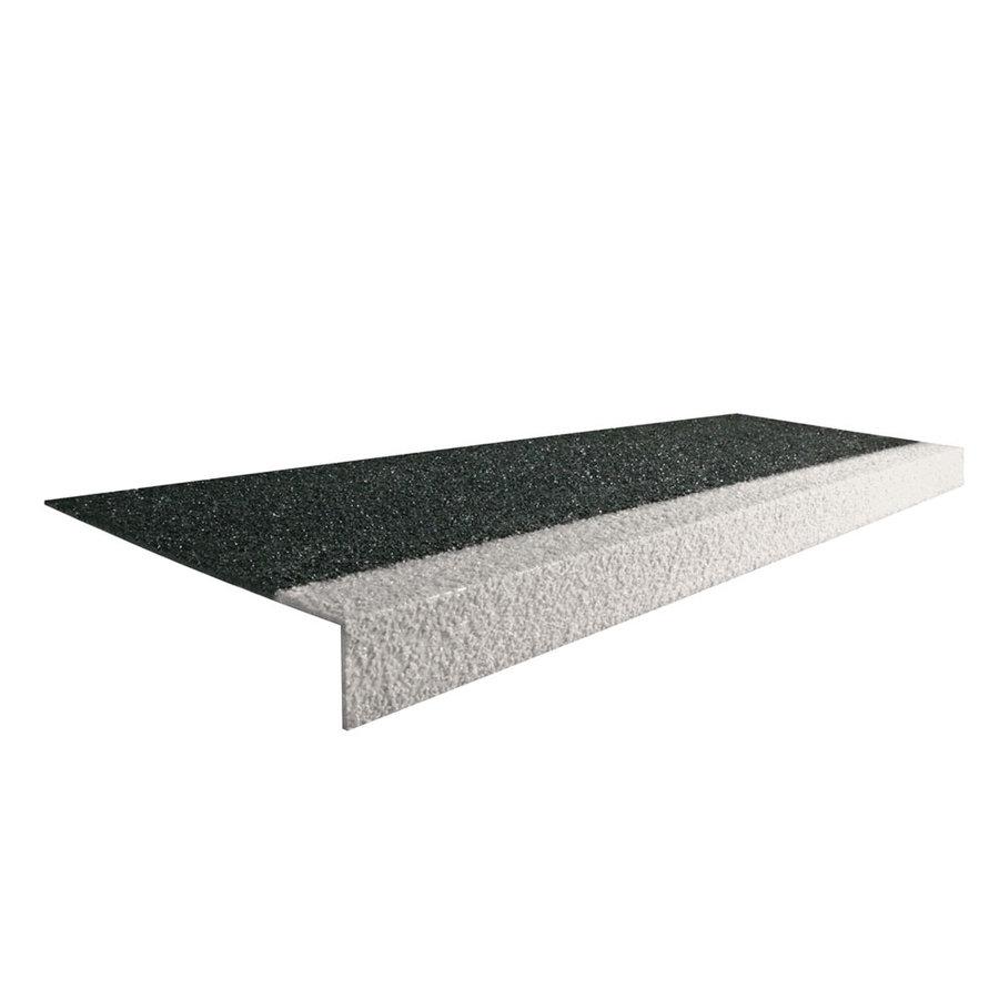 Bílo-černá karborundová schodová hrana - délka 100 cm, šířka 34,5 cm, výška 5,5 cm a tloušťka 0,5 cm + dárek ZDARMA