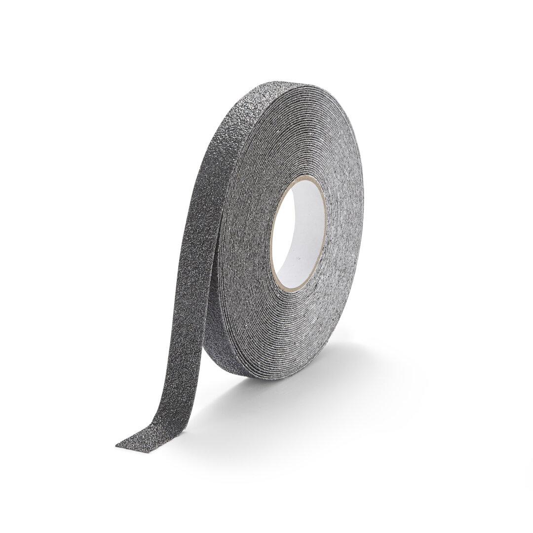 Černá korundová chemicky odolná podlahová páska Extra Super - 18,3 m x 2,5 cm