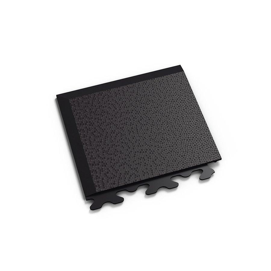 "Černý plastový vinylový rohový nájezd ""typ A"" Invisible Eco 2036 (hadí kůže), Fortelock - délka 14,5 cm, šířka 14,5 cm a výška 0,67 cm"