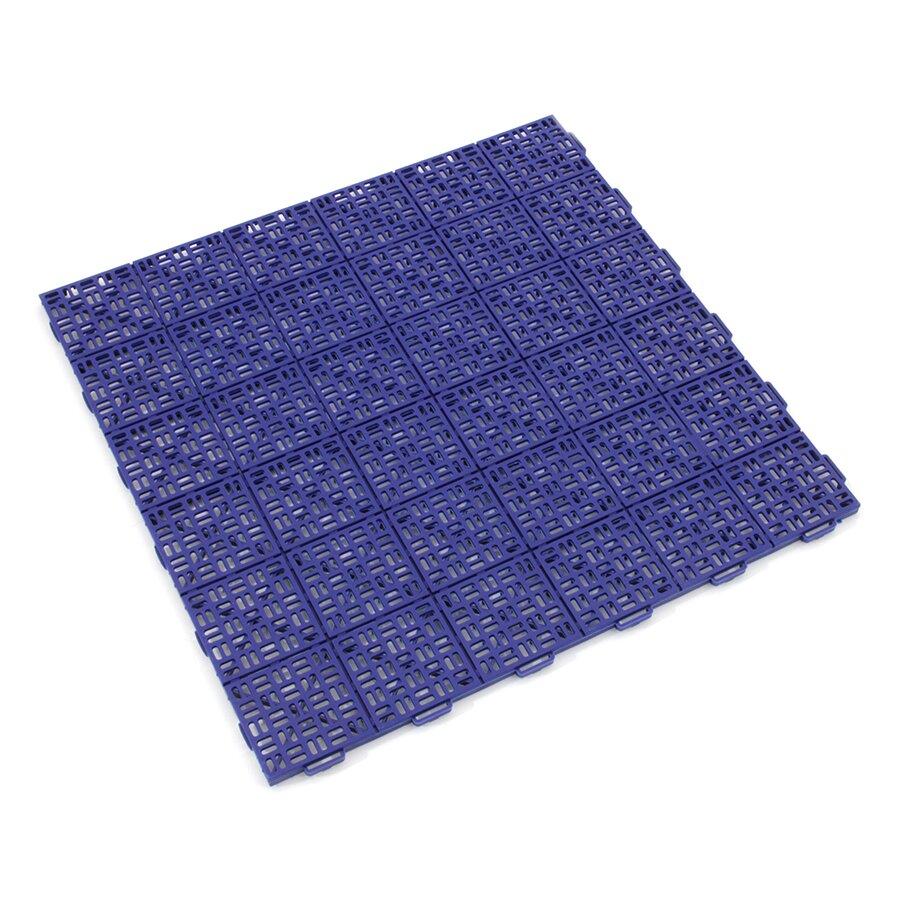Modrá plastová děrovaná modulární terasová dlažba Linea Marte - 56,3 x 56,3 x 1,3 cm