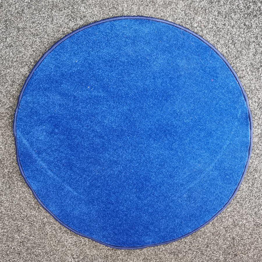 Modrý kusový kulatý koberec Eton - průměr 100 cm