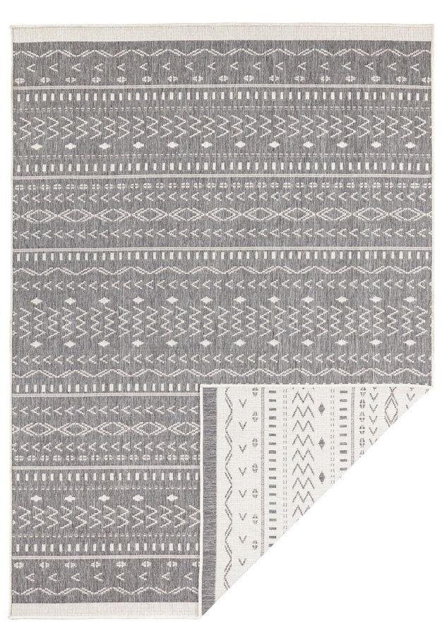 Šedý oboustranný moderní koberec Kuba, Twin-Supreme - délka 350 cm a šířka 80 cm