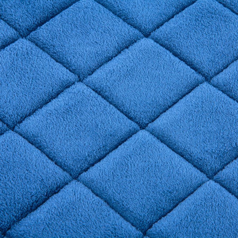 Modrá pěnová koupelnová předložka - délka 80 cm a šířka 50 cm